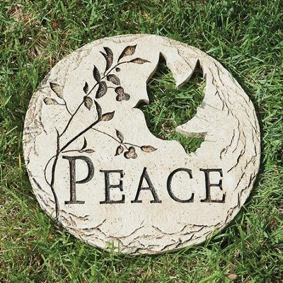 Peace Stepping Stone with Bird  -