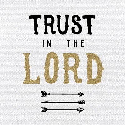 Trust in the Lord Plaque, White, Black, Gold   -