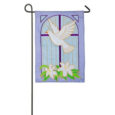 Dove on Cross Applique Flag, Small  -