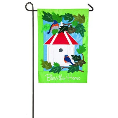 Bless This Home, Applique Flag, Small  -