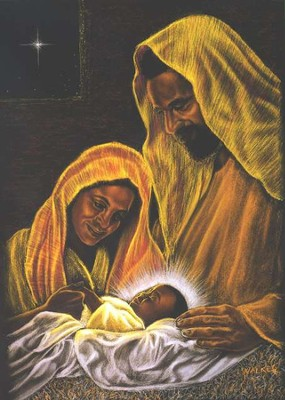 Holy Family Christmas Cards (African American) , 15 Cards  -