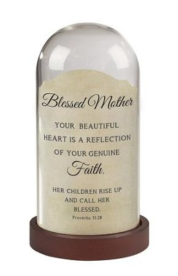 Blessed Mother, Proverbs 31:28, Light Jar  -