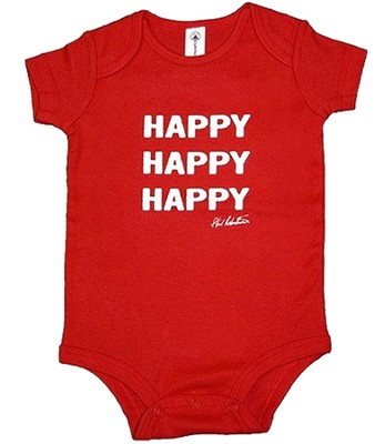 Happy Happy Happy Romper, Red, 6 Months    -