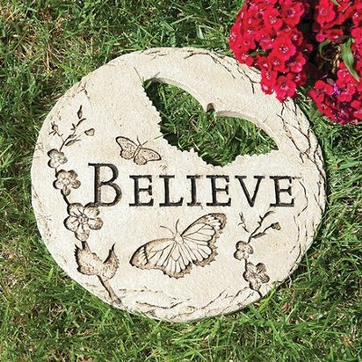 Believe Stepping Stone with Butterfly  -