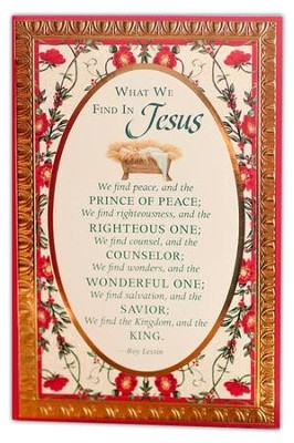 What We Find In Jesus Cards, Box of 18  -