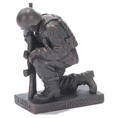 Soldier, Duty, Faith in God, Prayer Figurine           -