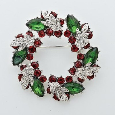 Christmas Wreath Story Pin  -