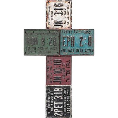 License Plate Wall Cross  -