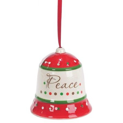 Peace, Bell Ornament  -