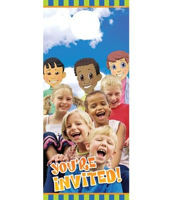 Children's Invited Door Hanger, Pack of 150 (summer fun  design)  -