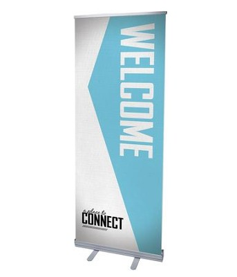 Place to Connect Welcome (31 inch x 79 inch) RollUp Banner  -