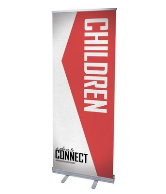 Place To Connect Children (31 inch x 79 inch) RollUp Banner  -