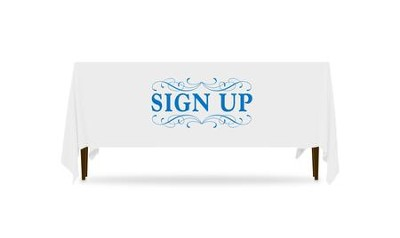 Filigree Sign Up Table Throw, 128 inches x 58 inches  -