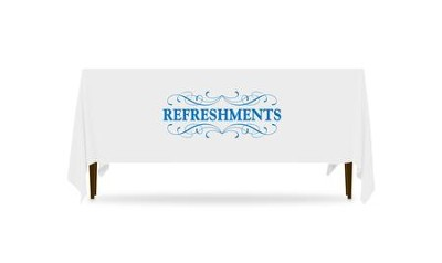 Filigree Refreshments Table Throw, 128 inches x 58 inches