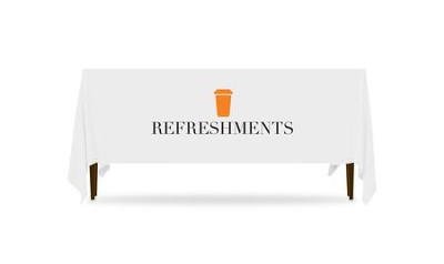 Icon Refreshments Table Throw, 128 inches x 58 inches  -
