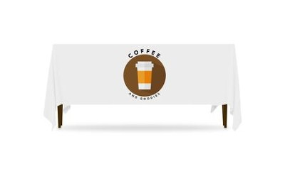 Burlap Coffee Table Throw, 128 inches x 58 inches  -