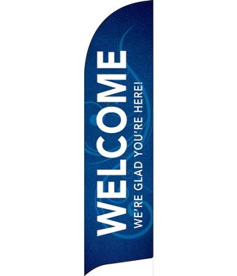 Flourish Welcome Flag Banner  -