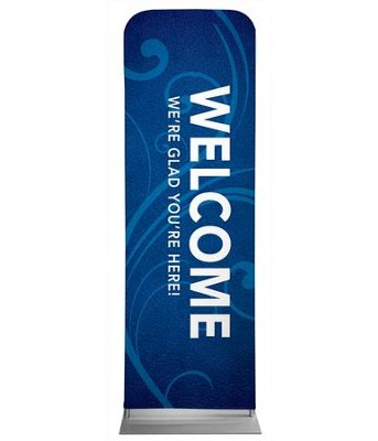 Flourish Welcome 2' x 6' Fabric Sleeve Banner  -