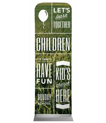 Phrases Children 2' x 6' Fabric Sleeve Banner  -