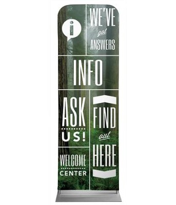 Phrases Info 2' x 6' Fabric Sleeve Banner  -