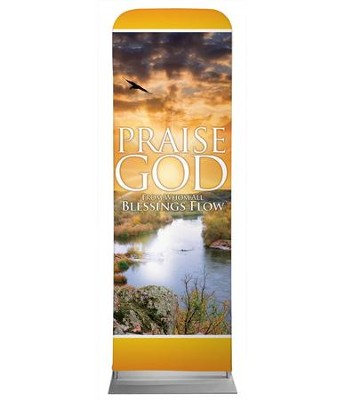 Blessings Flow 2' x 6' Fabric Sleeve Banner  -