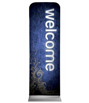 Adornment Welcome 2' x 6' Fabric Sleeve Banner  -