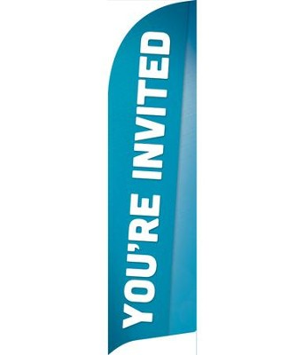 Family You're Invited Flag Banner  -