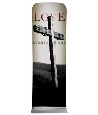 Love Starts Here 2' x 6' Fabric Sleeve Banner  -