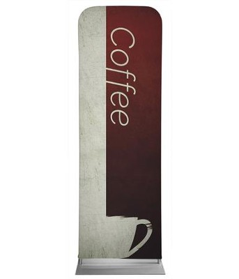 Color Block Coffee 2' x 6' Fabric Sleeve Banner  -