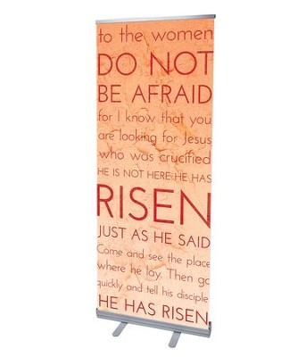 Holy Words Easter (31 inch x 79 inch) RollUp Banner  -