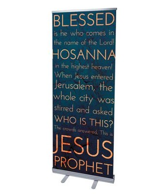 Holy Words Palm Sunday (31 inch x 79 inch) RollUp Banner  -