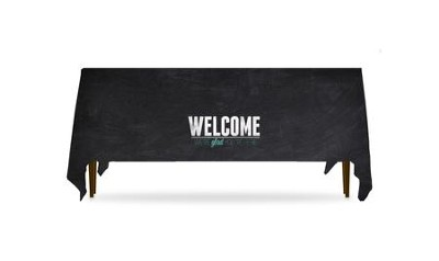 Slate Welcome Table Throw, 128 inches x 58 inches  -
