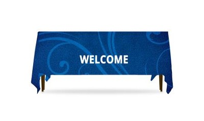 Flourish Welcome Table Throw, 128 inches x 58 inches  -