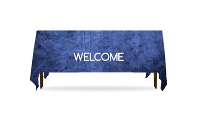 Adornment Welcome Table Throw, 128 inches x 58 inches  -