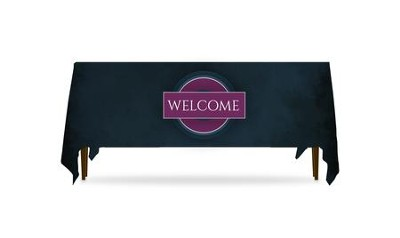 Together Circles Welcome Table Throw, 128 inches x 58 inches  -