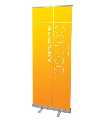 Color Wash Coffee (31 inch x 79 inch) RollUp Banner  -