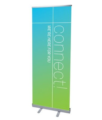 Color Wash Connect (31 inch x 79 inch) RollUp Banner  -