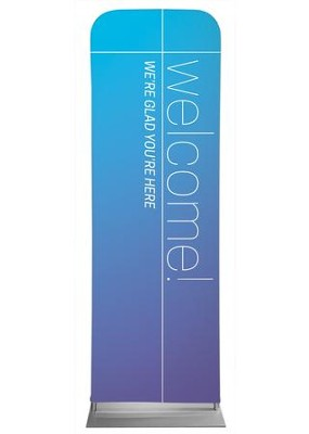 Color Wash Welcome 2' x 6' Fabric Sleeve Banner  -