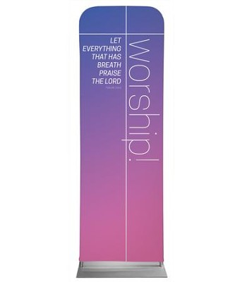 Color Wash Worship 2' x 6' Fabric Sleeve Banner  -