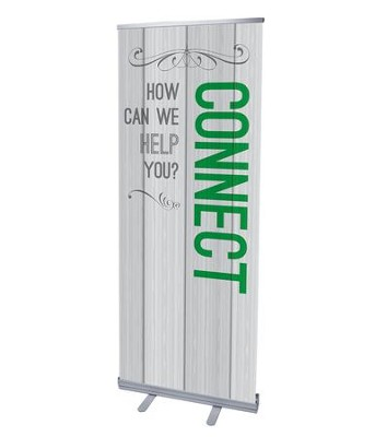 Painted Wood Connect (31 inch x 79 inch) RollUp Banner  -