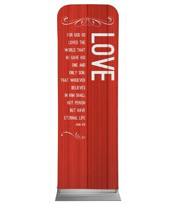 Painted Wood Love 2' x 6' Fabric Sleeve Banner  -