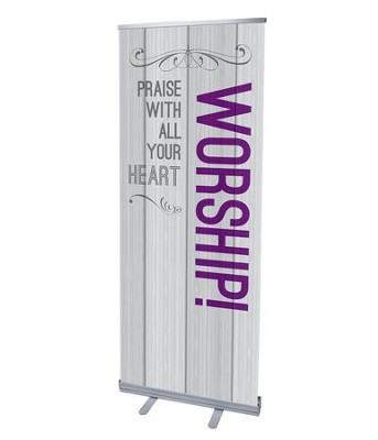 Painted Wood Worship (31 inch x 79 inch) RollUp Banner  -
