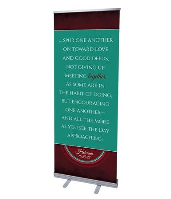 Together Circles Heb 10 (31 inch x 79 inch) RollUp Banner  -