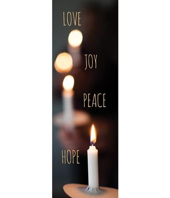 Candle Advent Words (2' x 6') Vinyl Banner  -
