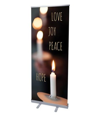 Candle Advent Words (31 inch x 79 inch) RollUp Banner  -