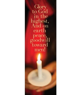 Glory to God Candle (2' x 6') Vinyl Banner  -