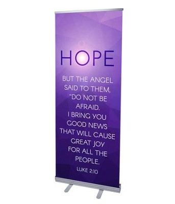 Advent Luke 2 Hope (31 inch x 79 inch) RollUp Banner  -