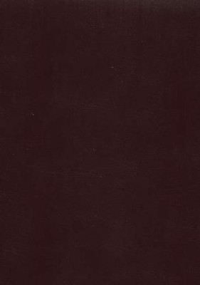 NAS Giant Print Reference Bible, Imitation leather, Burgundy   -