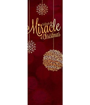 Celebrate the Miracle (2' x 6') Vinyl Banner  -