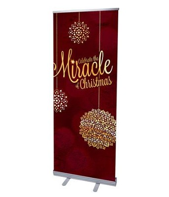 Celebrate the Miracle (31 inch x 79 inch) RollUp Banner  -